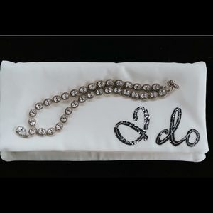 "Satin bridal ""I do"" clutch."